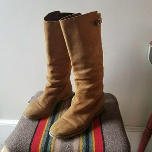 J. Crew Distressed Suede Boots